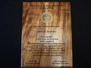 Koa Plaque, Laser engraved, Plaques, Koa, Award, Maui, Hawaii