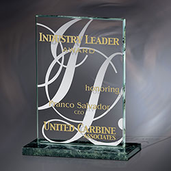 Award, Awards, Corporate Award, Etched Glass Award, Crystal Award, Glass Trophy