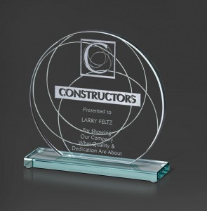 Round glass award